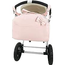Bolso polipiel carro bandolera marca Andu Modin. Color Rosa. Personalizado con nombre bordado