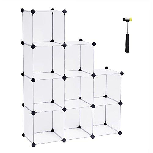 *SONGMICS Regalsystem Cube Aufbewahrung Badregale Schuhregal Sideboard Kommode Kleiderschrank Aufbewahrungsbox Weiß 93 x 123 x 31 cm LPC115S*