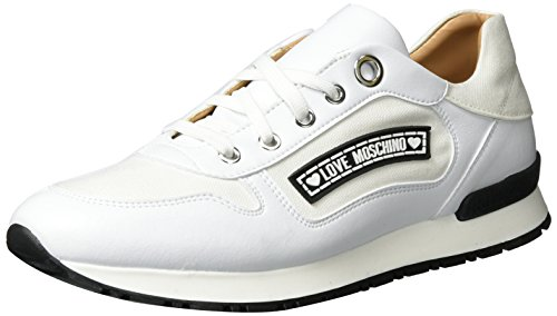 Love Moschino, Sneakers Basses Femme Blanc (White)