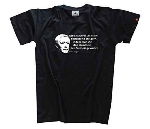 Ernst Juenger II - Die Sklaverei laesst sich bedeutend steigern indem man ihr den Anschein der Freiheit gewaehrt Kinder T-Shirt Schwarz 164
