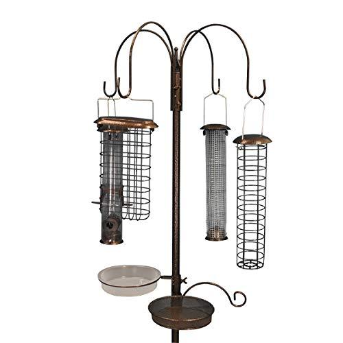 Selections Futterstation für Wildvögel aus Metall mit 4 großen Futterstationen für Wildvögel