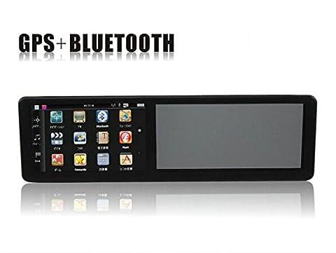 BW 5.0 Zoll HD Universal-Rückspiegel mit GPS-Navigation, Auto Bluetooth-Freisprecheinrichtung 4 GB eingebaute Europa (Gps Specchietto Retrovisore)