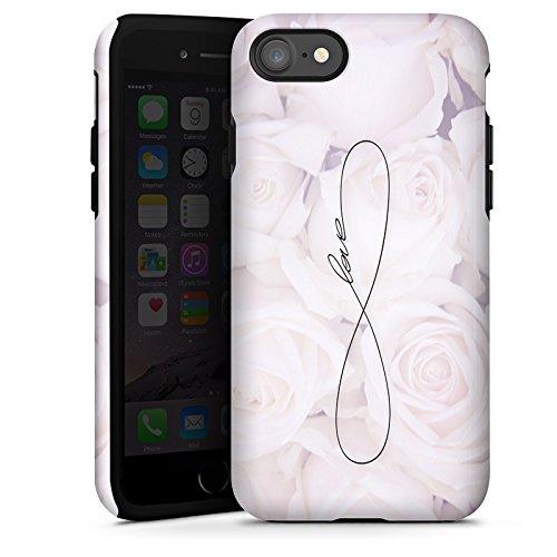 Apple iPhone 6 Tasche Hülle Flip Case Eternal Love Spruch Rosen Liebe Tough Case glänzend
