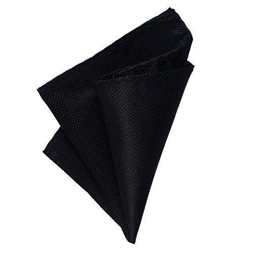 DonDon Herren Einstecktuch 21 x 21 cm formstabil und verstellbar für feierliche Anlässe schwarz (Einstecktuch Schwarzes)