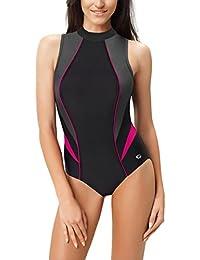 Gwinner Damen Badeanzug- Geeignet Für Freizeit Und Sport - Ideale Passform - Beständig Gegen UV Und Chlor -Made In EU #Ivanka