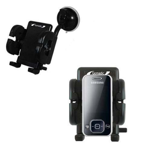 Samsung SGH-F250 Windschutzscheibenhalterung für KFZ / Auto - Cradle-Halter mit flexibler Saughalterung für Fahrzeuge