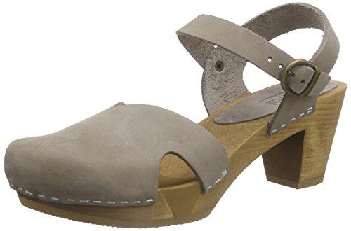 Sanita Matrix Square Flex Sandal, Damen Knöchelriemchen Sandalen, Grau (Grey 20), 41 EU