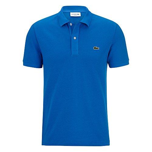 Lacoste PH4012 Herren Polo-Shirt Kurzarm,Männer Poloshirt,Polohemd,Polo,2 Knopf-Leiste,grünes Krokodil,für Freizeit und Sport,Slim Fit,Baumwolle,Blue ROYAL(B9U), Large (5)