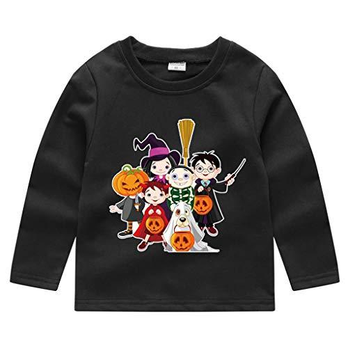 Honestyi Kleinkind Baby Kinder Jungen Mädchen Halloween Kürbis Sweatshirt Pullover Tops T Shirt (18M 5Y) Langarm Cartoon Print Top