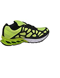 AER GREEN BLACK SNAKE STYLE RUNNING SPORTS SHOES
