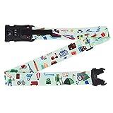 Gepäckwaage mit Codeschloss verstellbar Gepäckgurt Gewichtswaage Reisekoffer