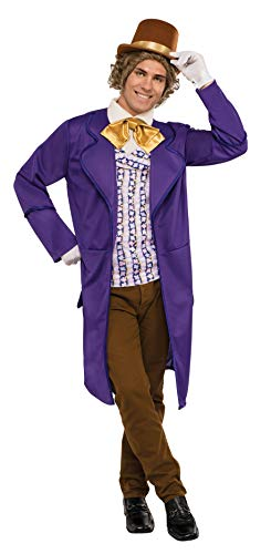 Willy Kostüm Wonka Herren Für - Rubie's Mens Deluxe Willy Wonka Fancy Dress Costume Standard