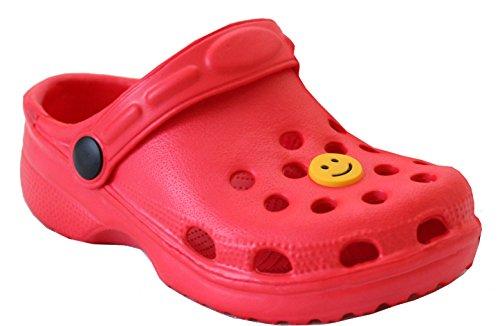 A&H FootwearTonu - Zoccoli Bimbe' Ragazzi da ragazza' Unisex per bambini Bimbi Red