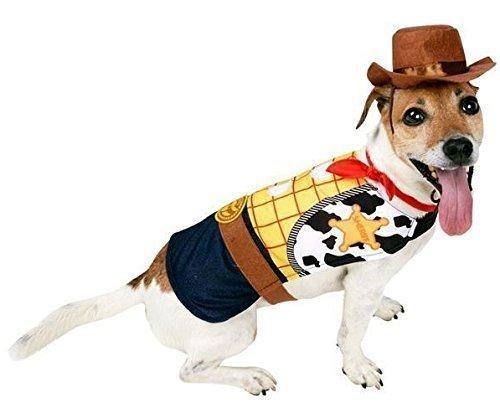 Haustier Hund Katze Disney Woody Toy Story Cowboy Halloween Kostüm Kleid Outfit Kleidung Kleidung - M (Woody Toy Story Halloween Kostüme)