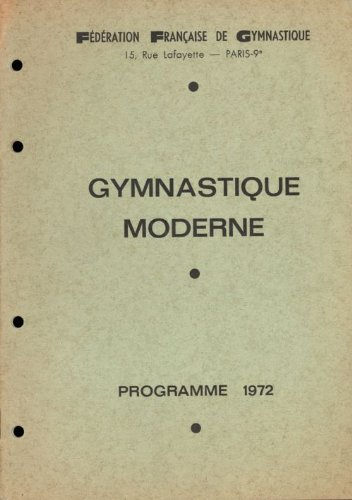 Gymnastique moderne Programme 1972
