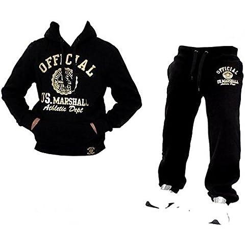 Original Traje de US Marshall US Marshall Chándal Pantalones y Sudadera Hombre &–Pantalones de deporte Pantalones Forro Polar epant Fitness Tisey®