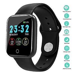 linyingdian Smartwatch, Reloj Inteligente Impermeable IP67 Pulsera de Actividad Inteligente con Monitor de Sueño Pulsómetros Podómetro Contador de Caloría, para Hombre Mujer niños 8