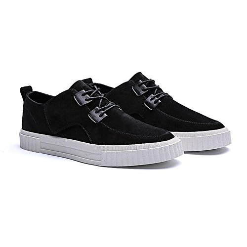 Unbekannt YIXINY Schuhe Sneaker DP06 Freizeitschuhe Männlich England Student Atmungsaktiv Schnürschuhe Segeltuchschuhe Flache Schuhe 3 Farben (Farbe : SCHWARZ, größe : EU40/UK7/CN41) 3 Schwarz Suede Schuhe