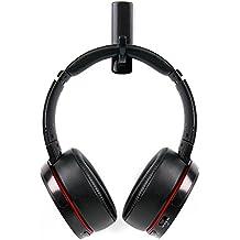 DURAGADGET Soporte / Gancho negro para auriculares AKG K 912 / K121 / Y30U / Y40 / Y45bt / Y50 / Y50BT / AGPtek NC-HA0079 con adhesivo fijador.