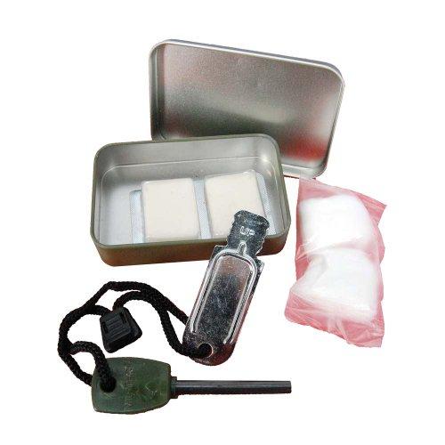 Acampar Flint encendedor Survival Kit Fuego Striker con la caja