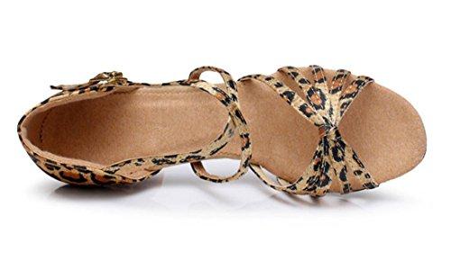 TDA , Bride de cheville femme 7cm Leopard