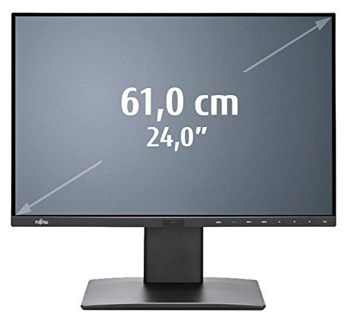 FUJITSU Display P24-8 WS Pro EUP Line 61cm 24zoll Wide DisplayPresence sens ABC matt blackDP DP Out HDMI DVI USB 4-in-1 Stand (Matt Monitor)