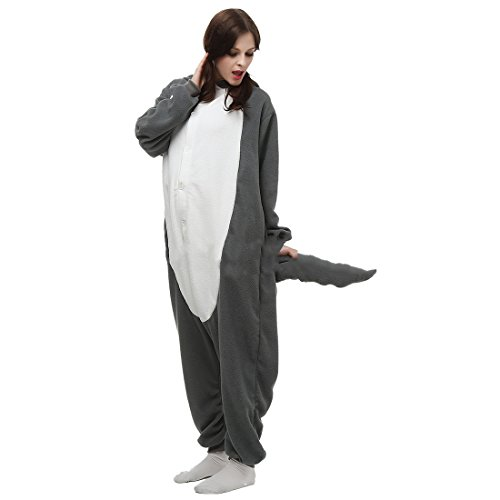 Casa - Unisex Adulto Kigurumi Pigiama Anime Onesie Cosplay Halloween Costume Cartone Animale Pigiamas S-XL Lupo Grigio