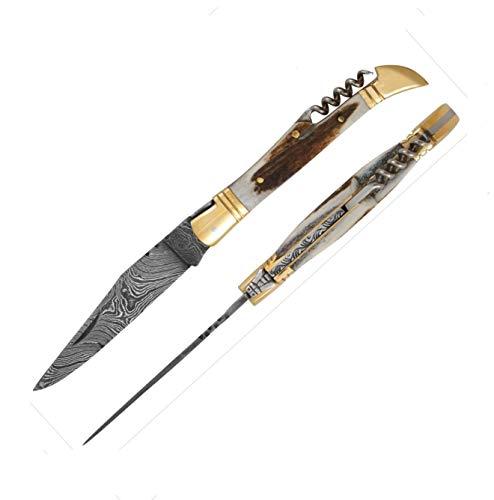 5472 Laguiole Handwerker hervorragende Damaskus Stahl &Antler Bone knochengriff. Camping Messer, Puli Damaststahl Messer, Fischmesser, Taschenmesser Laguiole, Pocket