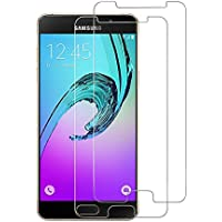 Woocika para Samsung Galaxy A5 2016 Cristal Templado [2 Unidades], 3D Cobertura Completa Ajuste Perfecto 9H Alta Definicion sin Burbujas para Samsung A5 2016 Protector de Pantalla