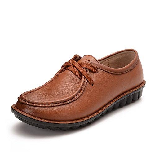 Chaussures femme/Plat moyen et vieux ans chaussures femme/Chaussure de mamans/Chaussures de fond mou/Chaussures femme B