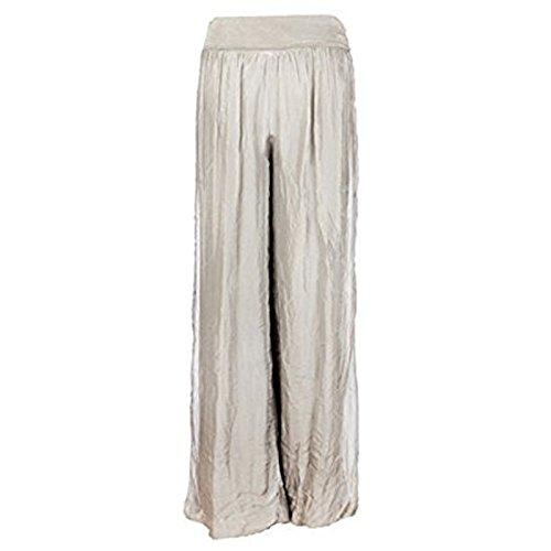 gugu fashion -  Pantaloni  - Donna Beige