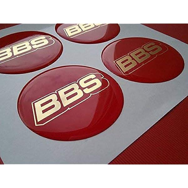 4x 65mm BBS Rot Silber Emblem Nabenkappen Nabendeckel Logo Red-Silver VW