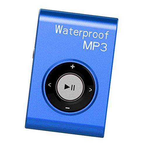 F Fityle Sport MP3 Player Digital Musikplayer zum Laufen - Blau 8g