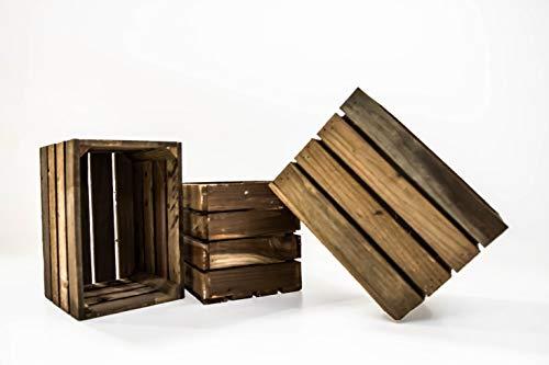 Set de 3 Cajas de Fruta Sam, Cajas de Fruta, Madera, Marrón, 30x20x20cm, 3 Unidades. Incluye Imán de Regalo Personalizable. ...