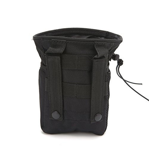 Aawsome Outdooer Utility Pouch Bag Bag Airsoft Military Molle Belt Tactical Dump Drop Bag Schwarz - Drop-weste