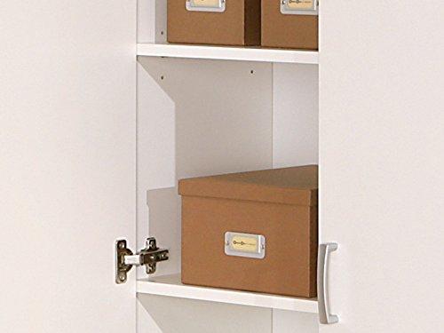 Inter Link 13500100 Schrank Aktenschrank weiß Büroschrank Büro Mehrzweckschrank 2-türig 5 Böden NEU - 6