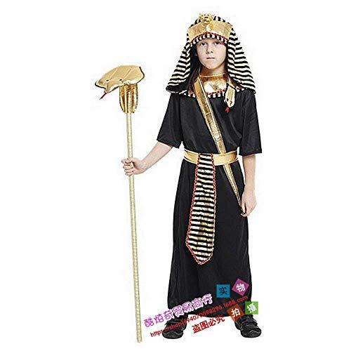 Unbekannt Ägypten kleinen Pharao König Kinder männliche Performance Kleidung Eltern-Kind-Familie Halloween COS Kleidung Campus Performance Drama Rollenspiel