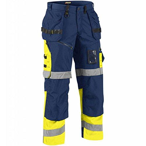 Preisvergleich Produktbild Blakläder 150818608933C54X1500High Schrauben Hose Klasse 1, Gr. C54Marineblau Blau/Gelb