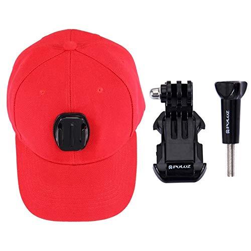 tioeqioan PULUZ Baseball-Mütze mit J-Hook Kamera-Schnallenbefestigungsschraube für