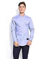 Mr Button The Cerulean Dream Chambray Shirts For Men, Long Sleeve, , 100% Premium Mercerised Cotton Fabric, Latest Modern Fashion, Branded Stylish (Clear Water)
