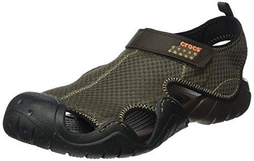 Crocs Swiftwater Sandal, Sandales Bout ouvert homme Marron (Espresso/Espresso)