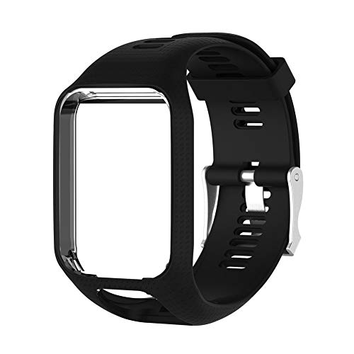 Zerone Premium Soft Silikon Uhrenarmband verstellbar Ersatz Fitness Watch Zubehör Armband für Tomtom Runner Cardio Spark