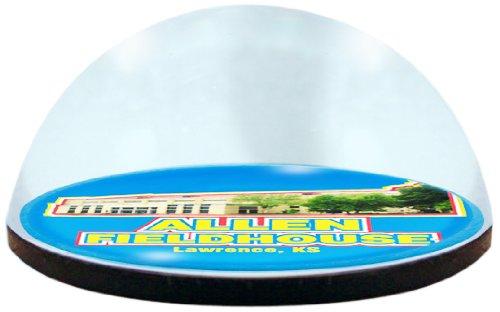 NCAA Kansas University Jayhawks Basketballarena in 5 cm großem magnetisiertem Briefbeschwerer mit Farbiger Geschenkbox Kansas University