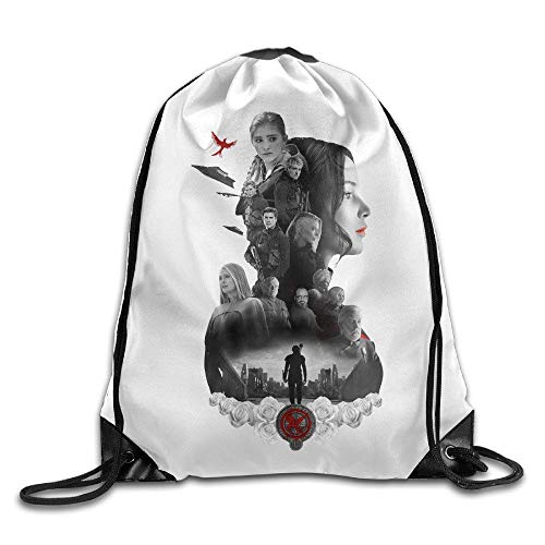 KAKALINQ Creative Design The Hunger Games Mockingjay Movie Drawstring Backpack Sport Bag for Men and Women