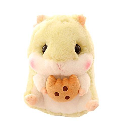 Baoblaze Hamster Stofftier Kissen Sitzkissen Plüschkissen Kuscheltiere Polster Unterlage - Grün (Grüne Hamster)
