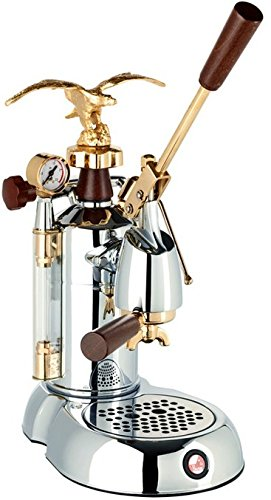 La Pavoni Expo 2015 EXP - Coffee Makers (Freestanding, semi-auto, Espresso Machine, Ground Coffee, Chrome, Gold, Wood, Cup)