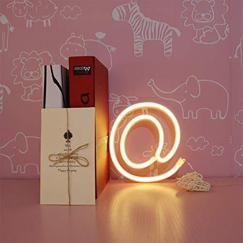 ENUOLI Warm White Charakter Neonzeichen Nachtlichter Batterie oder USB betriebene LED-Alphabet Neon Art Licht-Wand-Dekor leuchtet Worte für Hochzeit Geburtstag Party Weihnachten Home Bar Dekoration ( (Wort-art)
