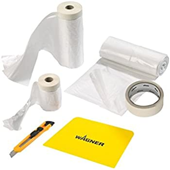Silverline 100284 Heavy Duty Protective Dust Sheet With Masking Tape And Dispens