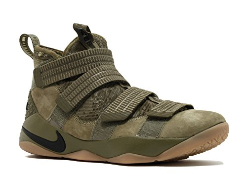 Nike Lebron Soldier XI SFG mens fashion-sneakers 897646-200_10.5 - Medium Olive/Black-Black