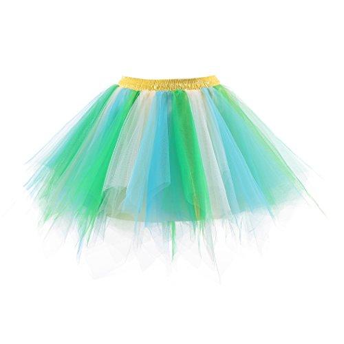 Honeystore Damen's Neuheiten Tutu Unterkleid Rock Ballet Petticoat Abschlussball Tanz Party Tutu Rock Abend Gelegenheit Zubehör Blau Grün und Champagner (Günstige Ballett Tanz Kostüme)
